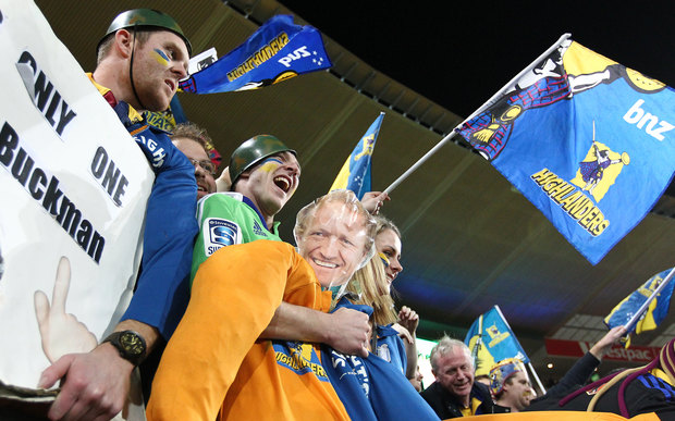 Highlanders fans during the Super Rugby Final.