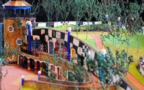 Model of Hundertwasser Centre