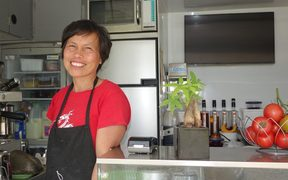 Caridad Apas plans to re-open her popular roadside cafe later this year.