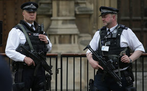 British police outside parliament