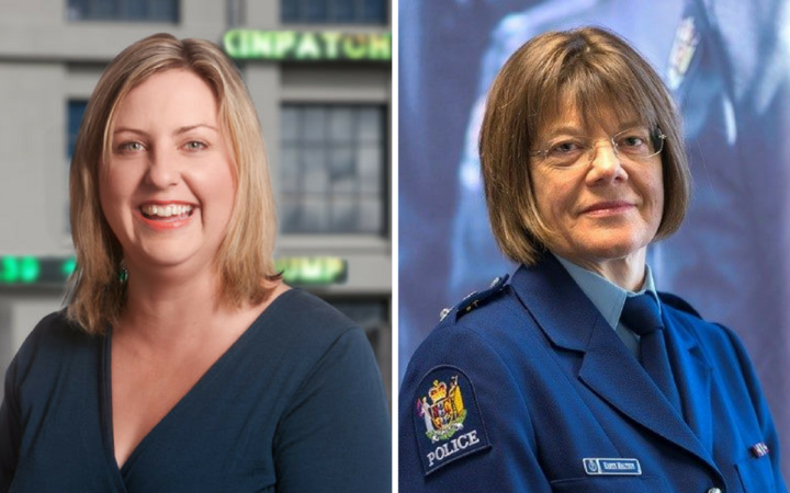 Head of Derivatives at NZX Kathryn Jaggard and Superintendent Karyn Malthus, District Commander Auckland.