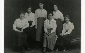 The first 7 residents of Helen Connon house, 1918