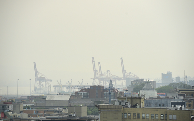 Downtown Vancouver is covered in a haze as forest fires rage