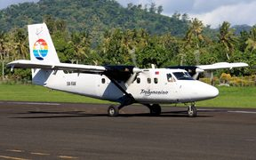 A Polynesian Airlines Twin Otter aircraft at Fagali'i Airport.