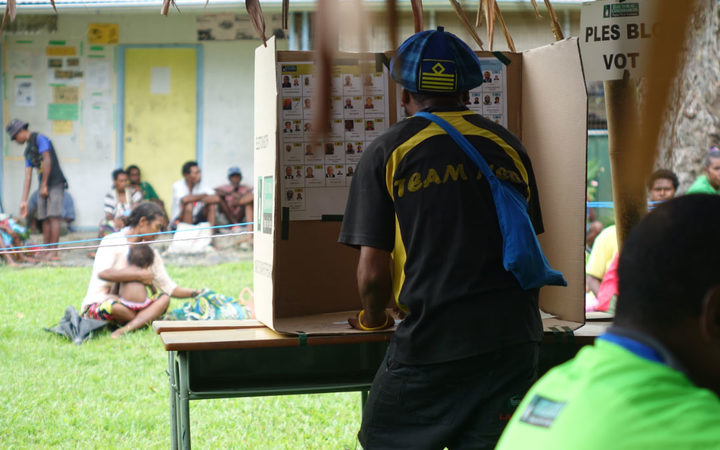 Polling booth PNG election 2017