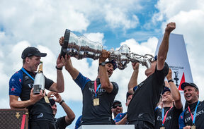 Team NZ celebrates America's Cup win