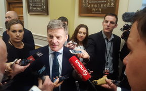 Bill English speaking to media at Parliament on Tuesday 27 June 2017