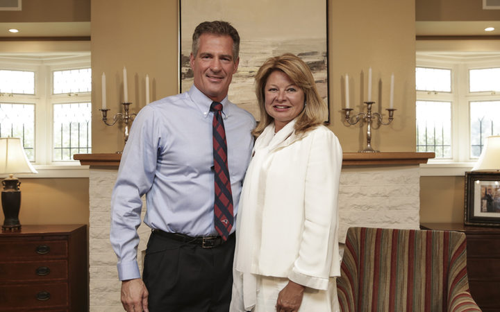 Scott Brown, US Ambassador to New Zealand and his wife Gail Huff at their Lower Hutt home.