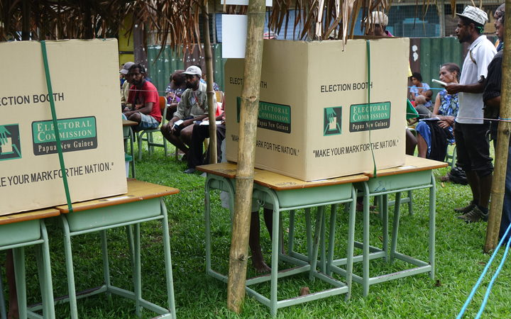 Election boxes in PNG
