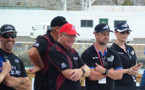 Martin Tasker, Peter Lester on the Toyota team; and Sam Wallace represnting Nespresso.