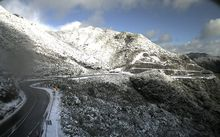 The Rimutaka Hill Road late Wednesday morning.
