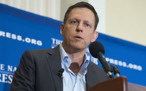 PayPal founder-turned-venture-capitalist Peter Thiel.
