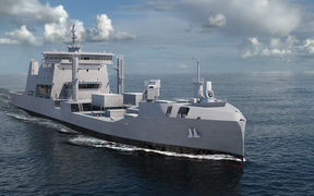 An artist's impression of HMNZS Endeavour.
