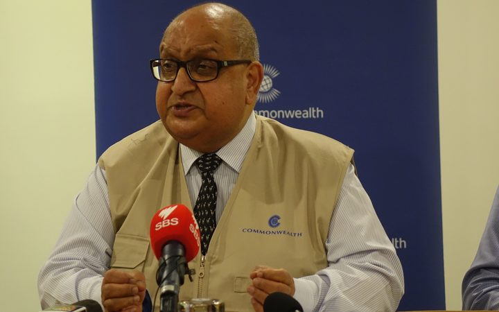 The chair of the Commonwealth Observer team sent to monitor Papua New Guinea's 2017 election Sir Anand Satyanand.