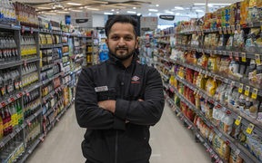 New World Victoria Park Grocery manager Gagandeep Singh.