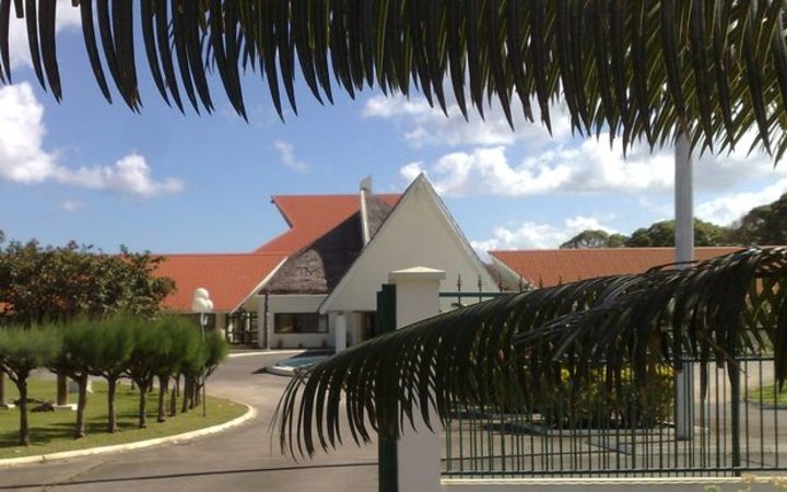 Vanuatu parliament building in the capital Port Vila.