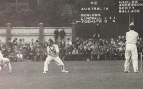1946 cricket match between Australia and NZ.