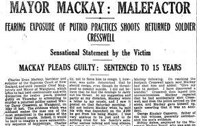 The court case of Charles MacKay as it appeared in Truth, June 5, 1920
