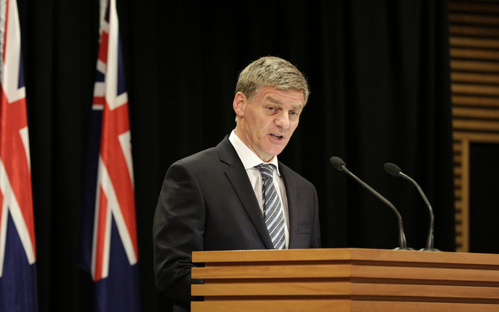 Prime Minister Bill English announces the election date.