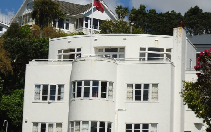 The Samoan High Commission building in Wellington.