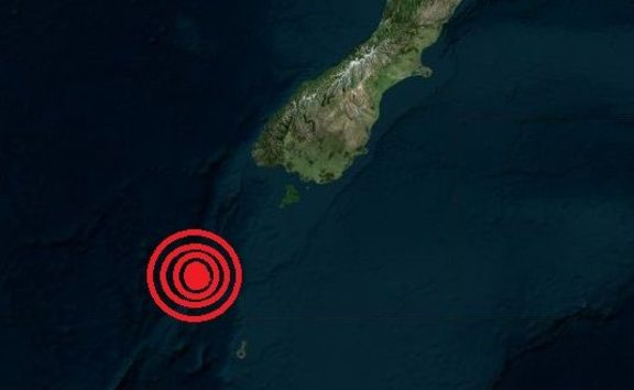 Quake off South Island, NZ