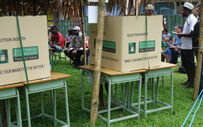 Polling booths in Papua New Guinea's 2017 national election.