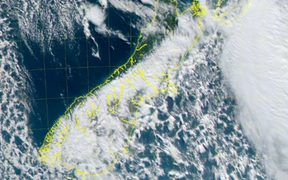 A satellite image of the South Island today.