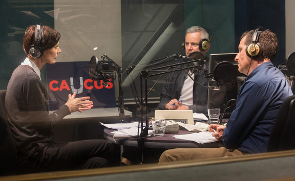 Lisa Owen, Guyon Espiner and Tim Watkin discuss politics for the podcast 'Caucus'