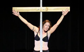 Critical reflections on the intricacies of female body image through deconstructing pole dance with the symbol of a cross