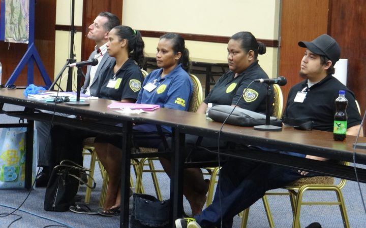 Marshall Islands police at human trafficking workshop