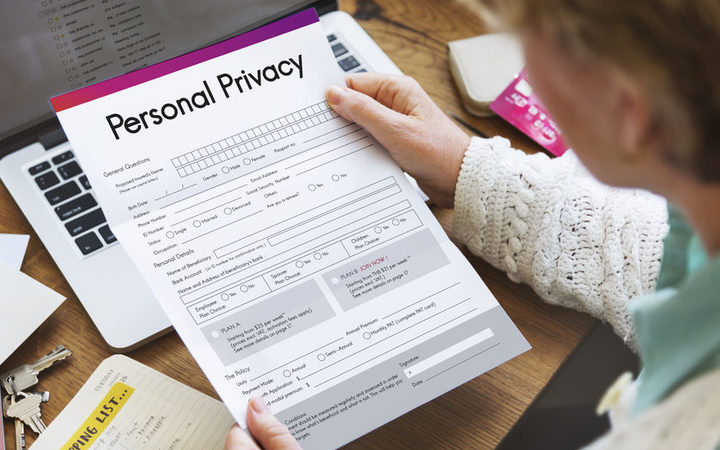 A personal privacy form.