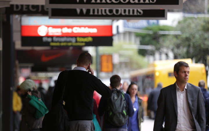 23062016 Photo: RNZ / Rebekah Parsons-King. Busy streets in Wellington.