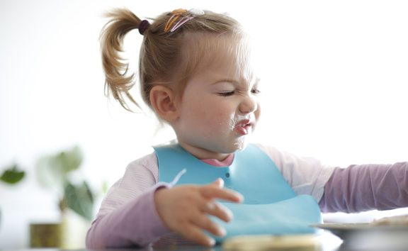 girl child fussy eater eating