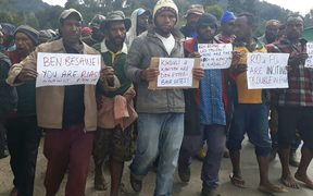 Peaceful demonstration in Wabag town over election allegations in Kandep district, Papua New Guinea