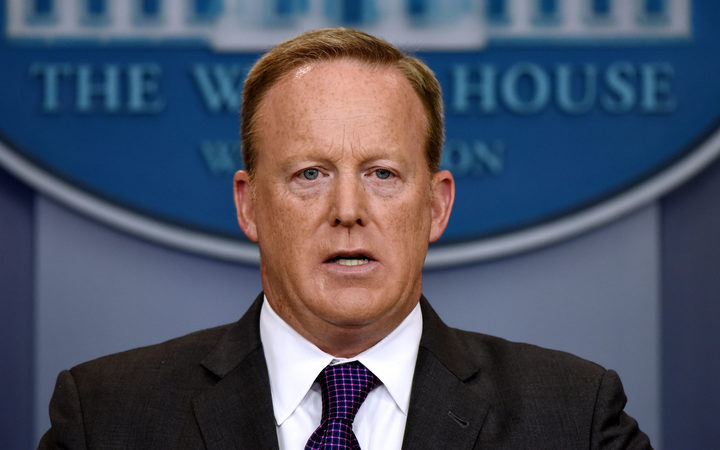 Outgoing White House press secretary for the Trump administration Sean Spicer.