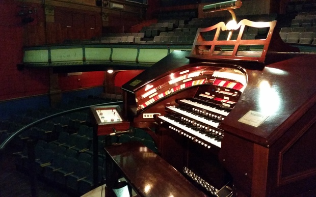 The Wurlitzer pipe organ in its current home at Avondale's Hollywood Cinema.