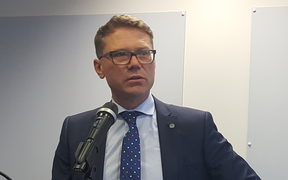 Tertiary Education Minister Paul Goldsmith launching the government's response to the Productivity Commission report on new models of tertiary education.