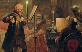 Flute Concert with Frederick the Great in Sanssouci by Adolph von Menzel