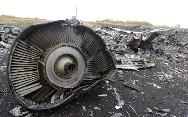 Malaysia Airlines Flight MH17 crash site.