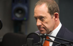 Andrew Little in the Morning Report Auckland studio, 18 July 2017.