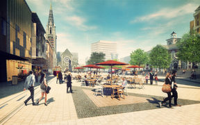 An artist's impression of the newly refurbished Cathedral Square.