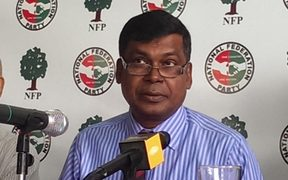 The leader of the Fiji National Federation Party, Biman Prasad.