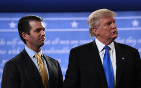 Donald Trump Jr, left, met with a Russian lawyer during the 2016 election campaign