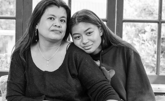 Mabel Pe with her daughter Marian Han