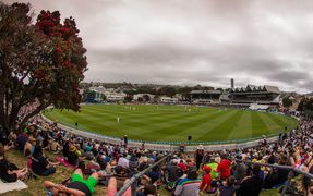 A good crowd at the Basin Reserve
