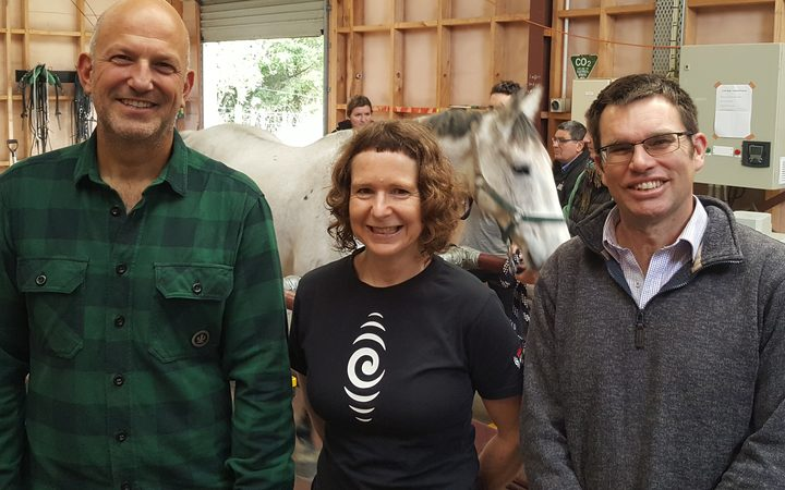 Simon, Alison and Chris. And a horse.