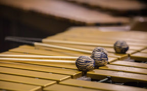 Mallets belongs to Eric Renick, percussion solosit for the upcoming APO concerts of a Finish percussion Concerto