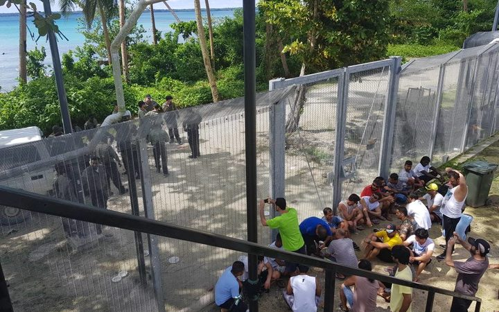 Protest at Australia's detention camp in PNG