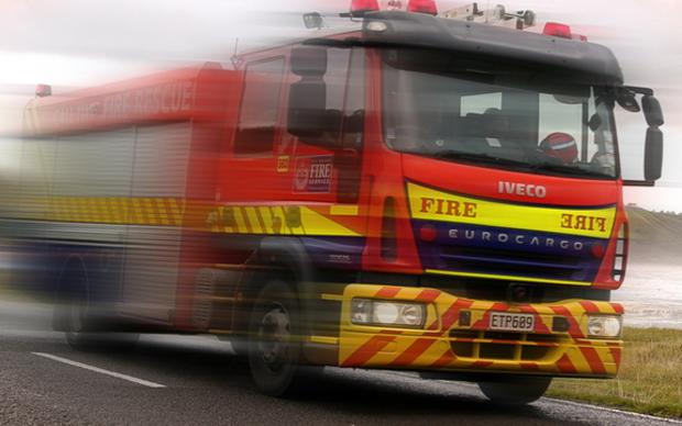 Fire engine north of Gisborne.