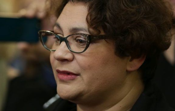 Metiria Turei after announcing she was resigning as Green co-leader.